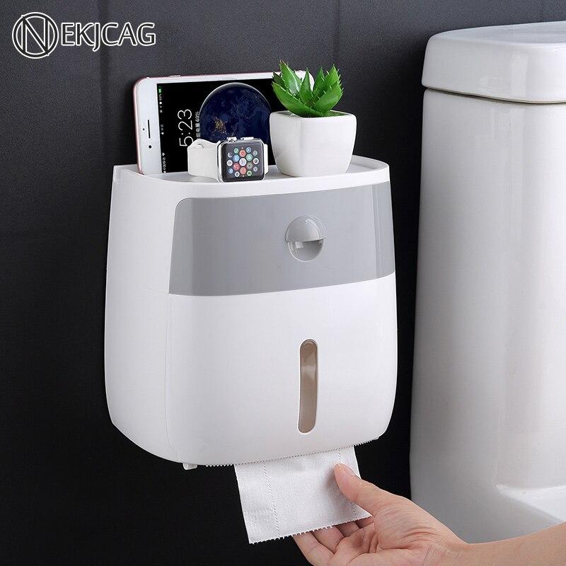 Shelf Storage-Box Paper-Holder Tray-Roll Toilet-Paper Creative-Tray Wall-Mount Waterproof