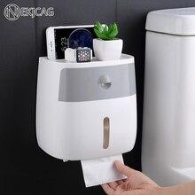 Ücretsiz kargo su geçirmez duvara monte rulo kağıt havlu tutucu raf tuvalet kağıt tepsisi rulo kağıt tüp saklama kutusu yaratıcı tepsisi