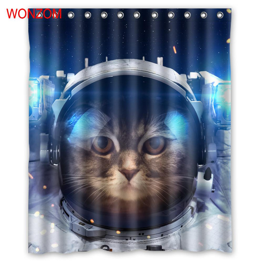 WONZOM 1Pcs Cat Waterproof Shower Curtain Dolphins Bathroom Decor Bird Decoration Animal Cortina De Bano 2017 Bath Curtain Gift
