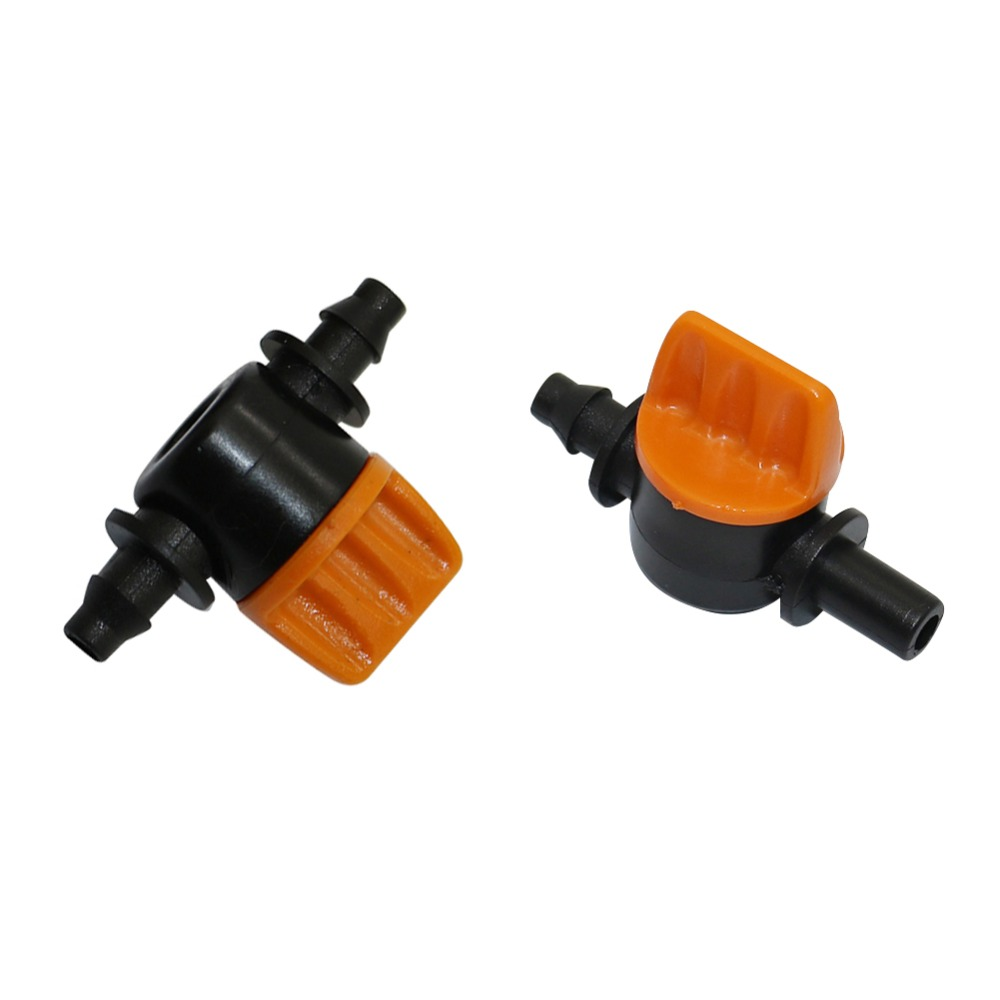 Mini Water Flow Switch Flow Control Valve Agriculture Industrial Irrigation Plumbing DIY Flow Switch Stop Valve 10 Pcs