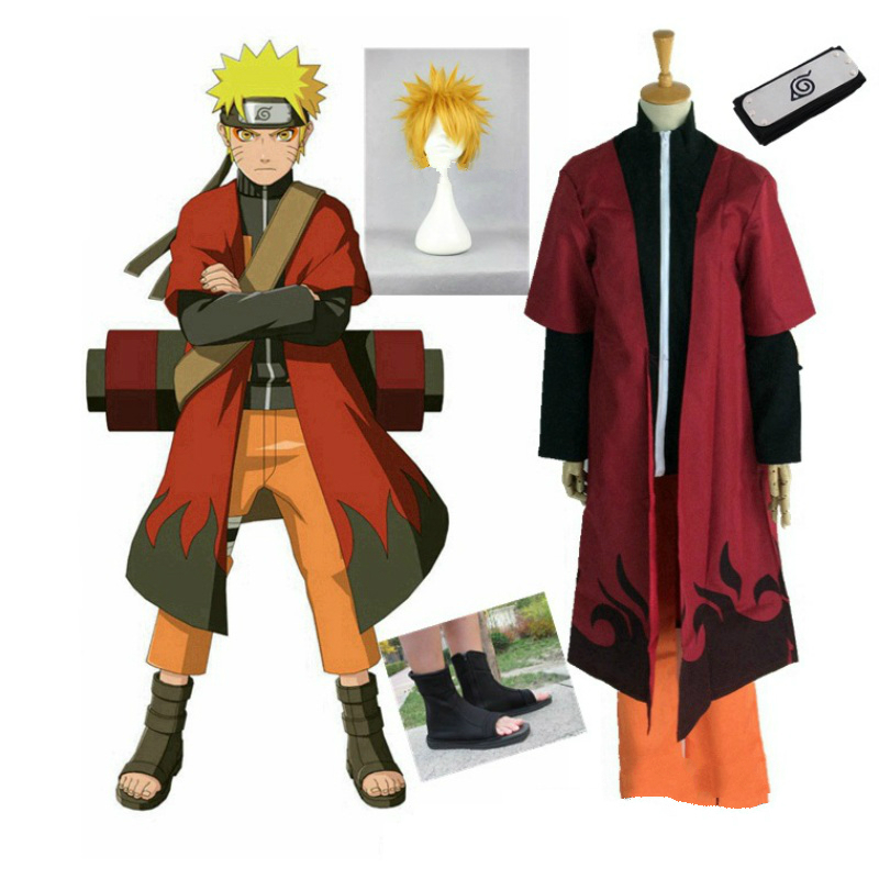 Cloak Set Wig and Boots Anime Cosplay for the Second Hokage Naruto Japanese Popular Vestidos Costume Adult in Carnaval Halloween