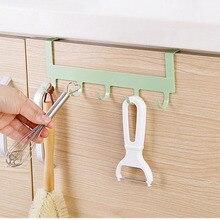 Bathroom Wrought Iron Hook Multifunctional Kitchen Cabinet Door Metal Accessories Kitchenware Storage Tool