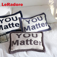 LeRadore Soft Cushion Cover You Matter Print Lovers Bolster for Themed Hotels Home Bar Party Gift Plush Pillows Warm Bolster