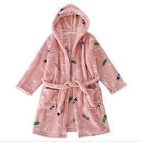 Autumn kids Thick flannel Robes children cute sleepwear sets unisex long sleeve girls Robes sets 4 9t