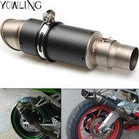 Universal Exhaust Pipe for Suzuki GSXR 600/750/1000 GSX1300R HAYABUSA Honda CB400 CB1000R CB1300 CBR 600/600RR/954RR/1000RR