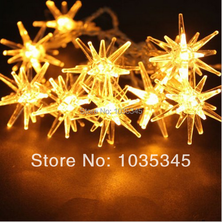 Free shipping Christmas Wedding Decoration10 LED Stab Ball AA Battery Powered Starry String Lights Outdoor Party Decor Gift