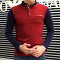 2017 Fashion Men Polo Casual Polo Men slim Fit long Sleeved Thermal Men's Korean Leisure Polo Shirt Men