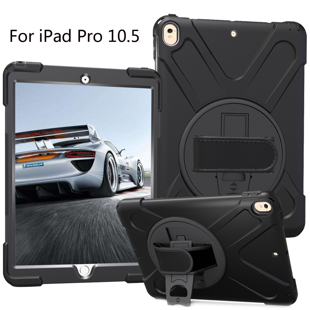 New 2017 Case For iPad Pro 10.5 Kids Safe Shockproof Heavy Duty Silicone Hard Cover kickstand Hand bracel
