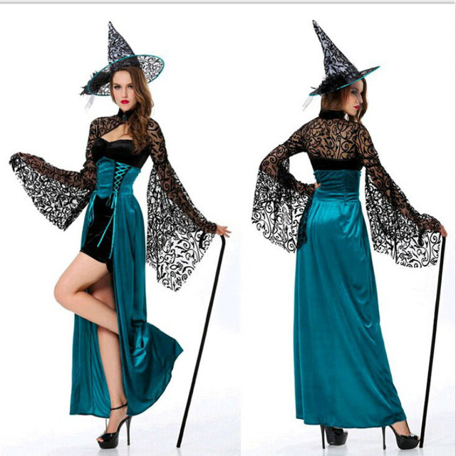 gothic sexy halloween costumes for women witch fancy dress costume