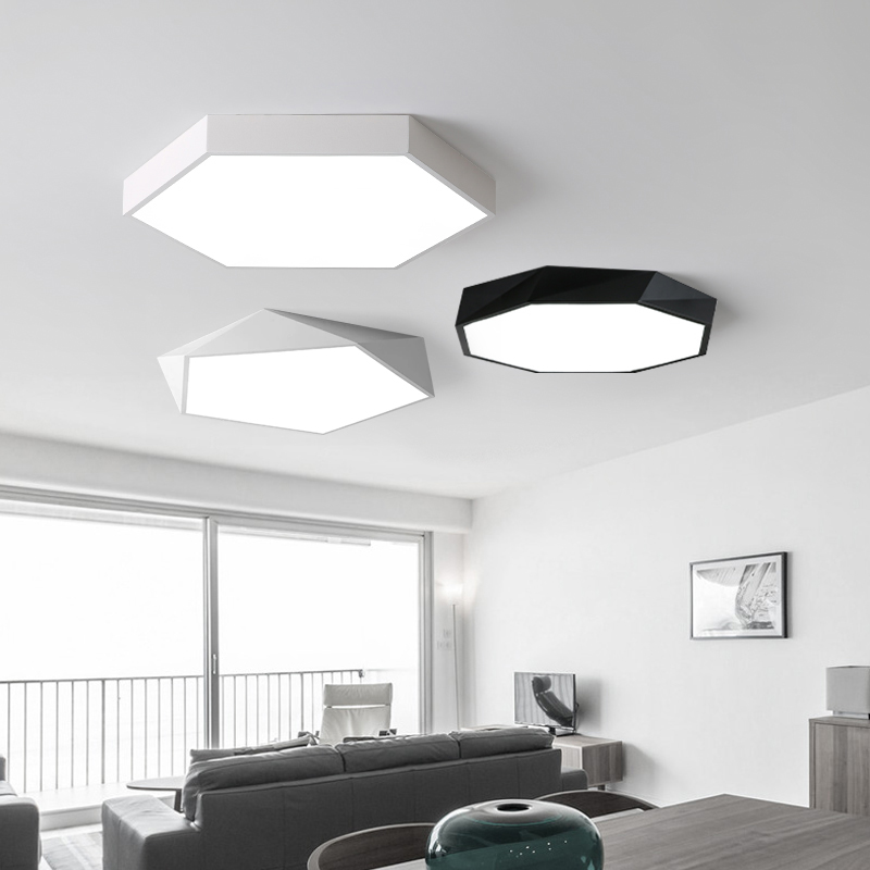 купить LED Ceiling Light for Living Room Dimmable Bedroom Modern Home Decoration Indoor Lighting Fixture Remote Control Ceiling Lamp 40 по цене 3851.38 рублей