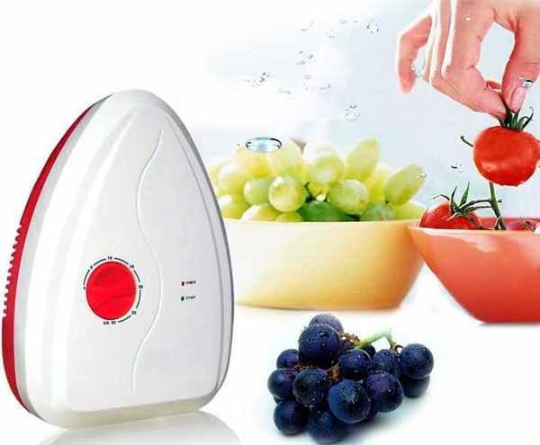 Portable Active Ozone Generator Sterilizer <font><b>Air</b></font> <font><b>purifier</b></font> Purification Fruit Vegetables water food Preparation ozonator ionizator