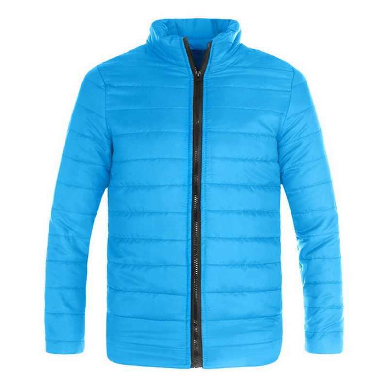 Adisputent 男性冬のジャケットのコートダウン保温ジッパーポケットプラスサイズ上着固体厚手のパーカー