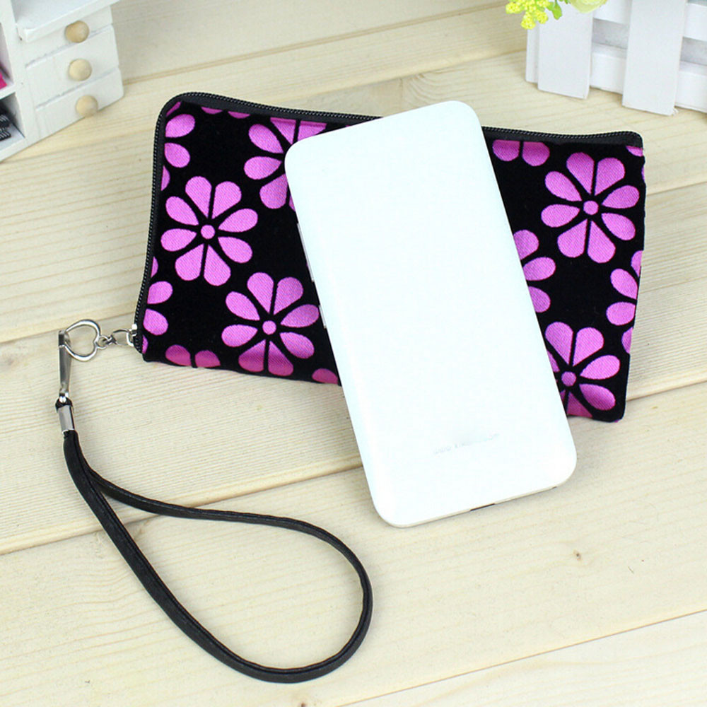 Aelicy Coin Purse Clutch-Bag Light Flower Zipper Wallet Square Mobile-Phone Printed Female title=