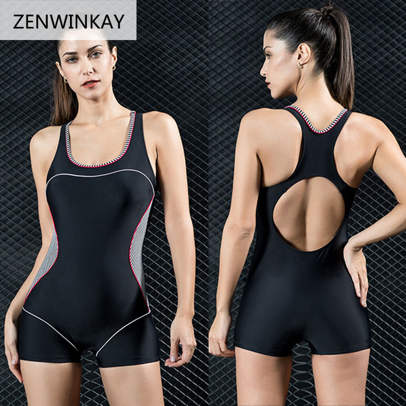 2017 Female Bathing Suit One Piece Swimsuit Shorts Swimwear Sports Swim Wear Women Swim Wear Plus Size XS S M L XL XXL 3XL 4XL недорого
