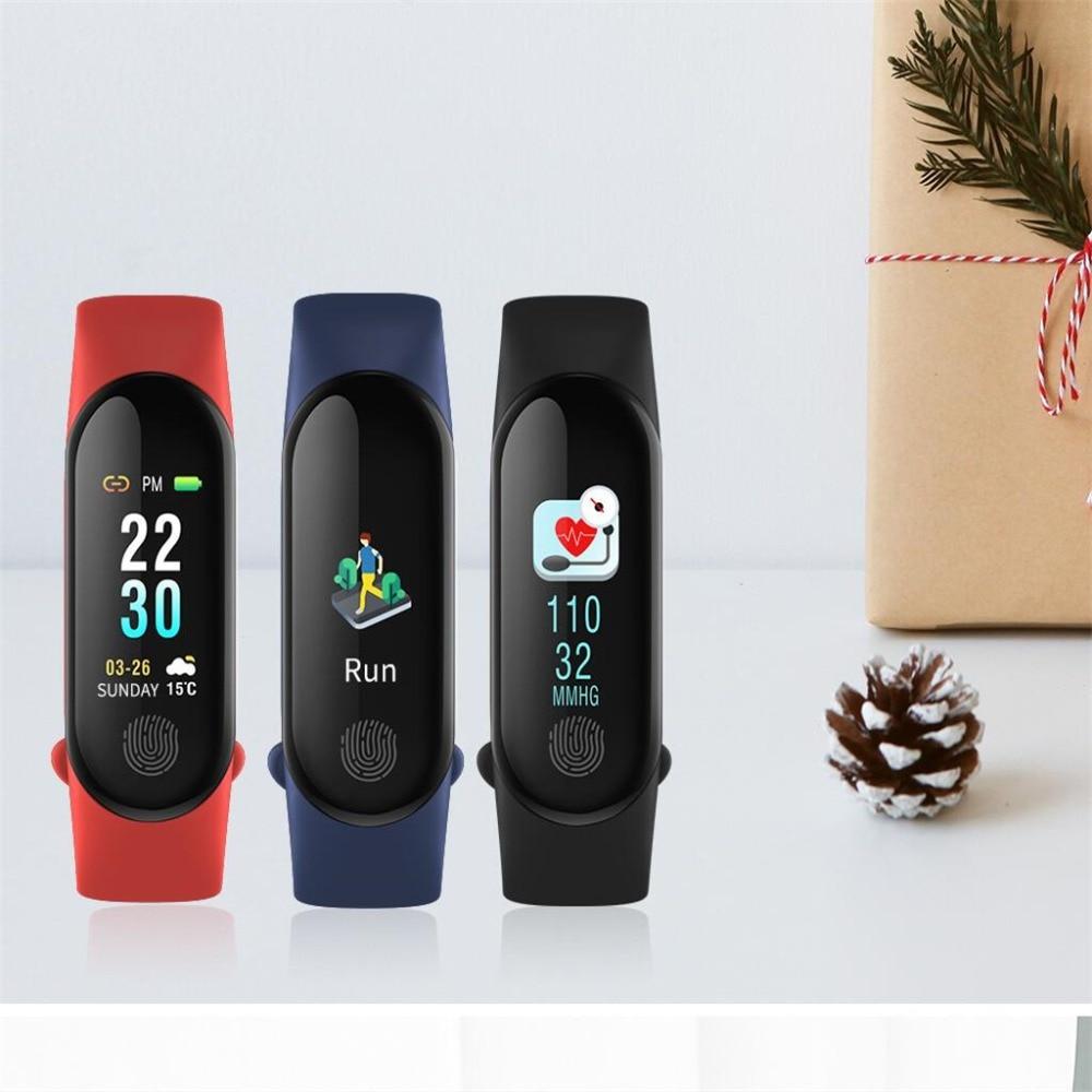 M3 Plus Pour mi bande 3 smart Bracelet 0.96 pouce couleur Lcd IP67 ÉTANCHE Sport Fitness tracker tactile Écran Instantanée message NW