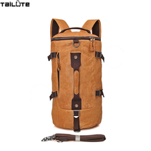 TAILUTE Genuine Leather Men Backpack Head Layer Cow Leather Teenage Boys's Men 's Laptop Bag Backpack For Men