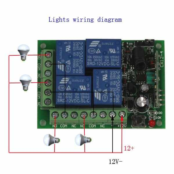 Sleeplion 12V 4 Channel Auto RF Wireless Remote Control ... on