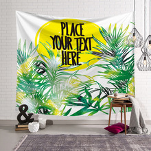 Tapestries Hanging-Sheets Decorative Wall Tropical Picnic Green Outdoor Home Here Gift
