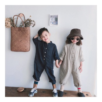 2018 Autumn Toddler Kids Girl Boys Overalls Korean Fashion Childern Clothings Casual Kid Clothes kleider weit