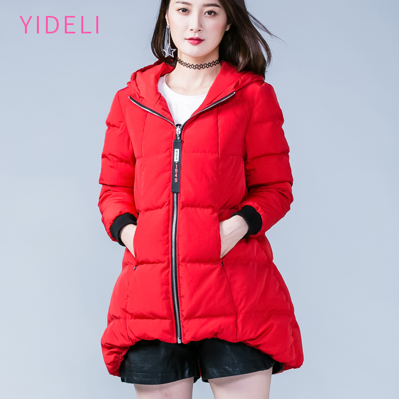Women Winter long Thick Jacket Warm Woman Parkas Female Overcoat High Quality 2017 New Hooded red Plus Size Loose coat 4XL 5XL 2015 new hot winter cold warm woman down jacket coat parkas outerwear hooded loose luxury long plus size 2xxl splice cloak