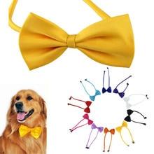 1 шт. Многоцветный Собака шеи галстук Собака галстук-бабочку Кот рулевой зоосалон Поставки Pet головной убор Aug4
