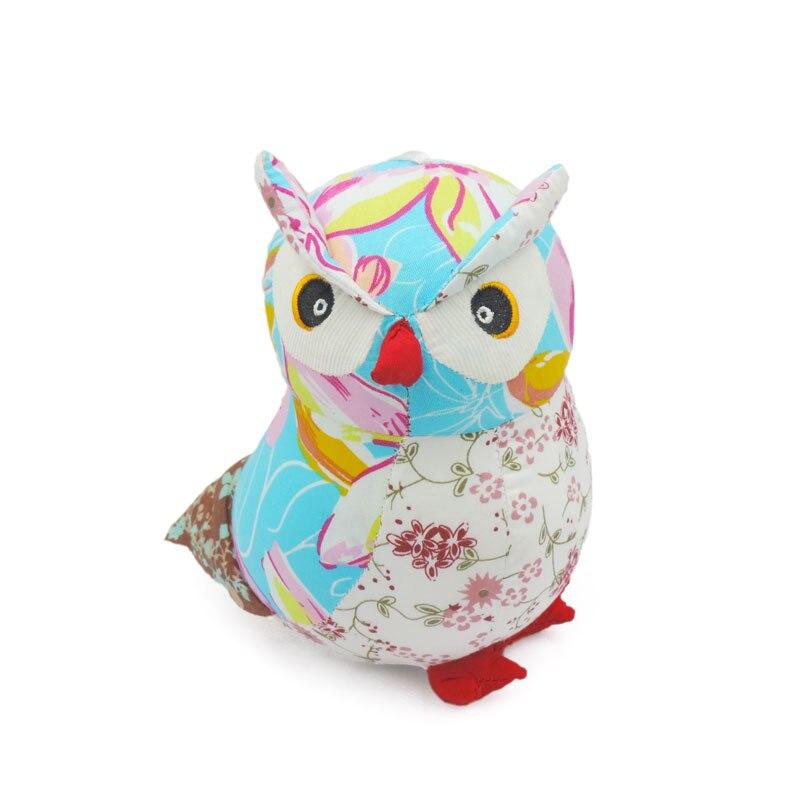 Small Cute Owls Plush Toys Stuffed Animals Birds Flower Print Cotton