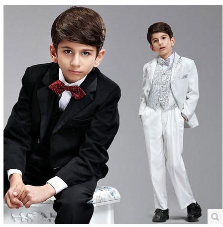 2014 New High quality Gentlemen 8pcs children's clothing set kids suits blazers fashion boys wedding wear formal dress child set ремни lee ремень gentlemen