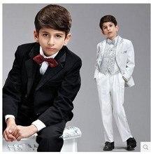 2014 New High quality Gentlemen 8pcs children s clothing set kids suits blazers fashion boys wedding