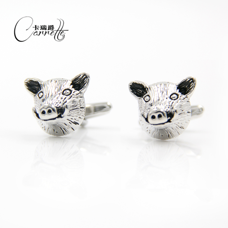 Factory spot direct sales fun pig head shape male and female business French cuff sleeve cuff animal cuffs