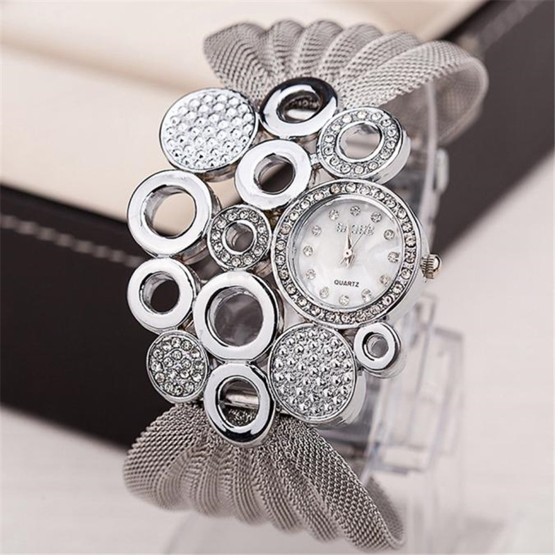 Diamond Bracelet Watches Mirror Fashion Women Luxury Relogio Lady Quartz -2ap27 Feminino title=