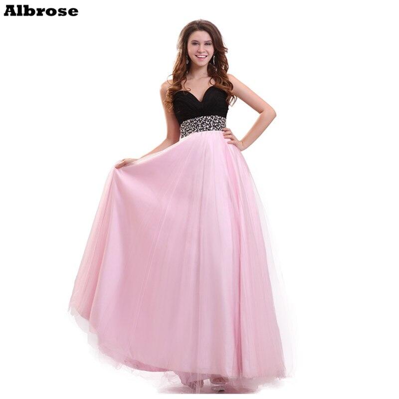 Negro y rosa vestido de noche novia formal atractivo Vestidos de ...