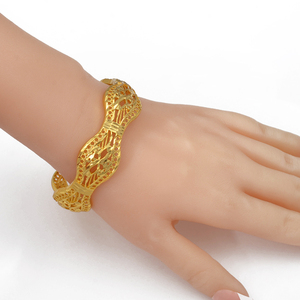 Image 2 - Anniyo 4 Pieces/Openable Dubai Wedding Bangles Ethiopian Bracelet & Bangle for Women African Jewelry Arab Middle East #208206