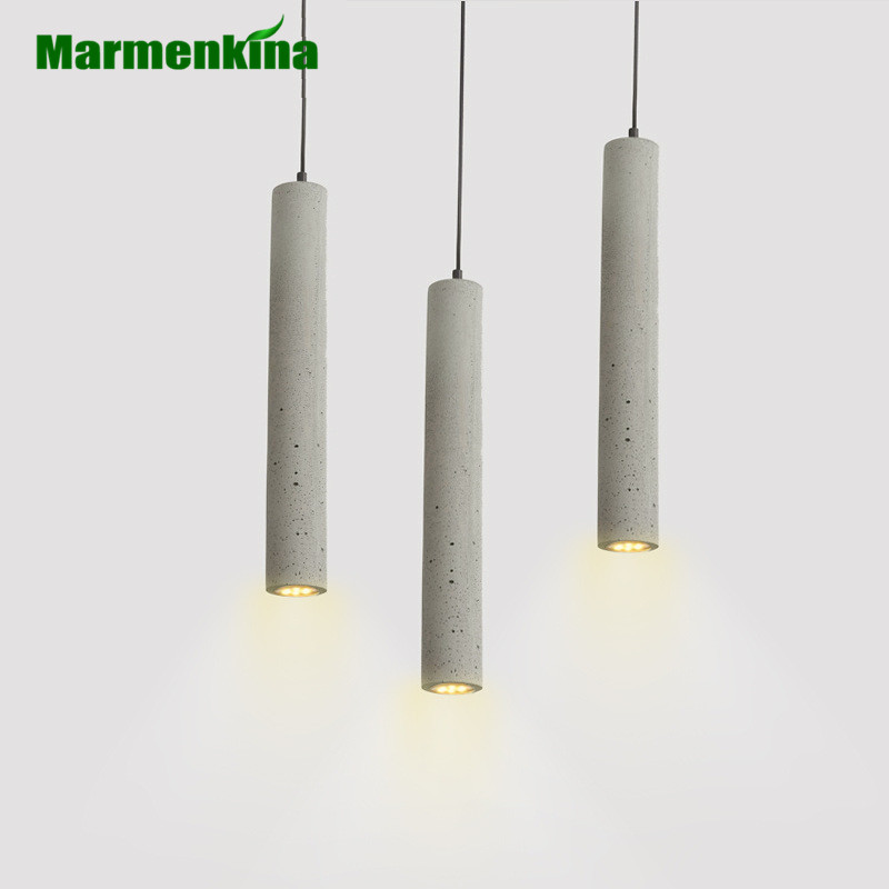 American LED pipe cement pendant lamp creative personality retro restaurant bedside  small Pendant light  AC110-240V