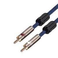 Cable AV Cable Audiophile RCA macho a macho para proyecto amplificador Subwoofer de alta fidelidad de la OFC RCA Coaxial Cable Spdif Sheilded 1M 2M 3M 5M 8M