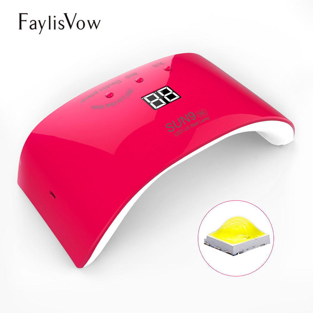 SUN9SE UV LED Lamps 24W Lamps for Nails UV Gel Polish Nail Dryer Machine USB Charge Manicure Curing Tools Double Power Nail Lamp