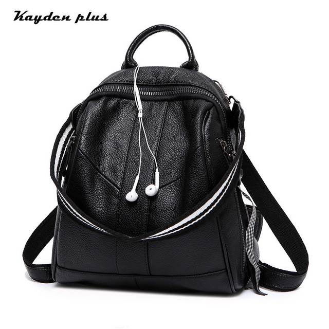 26fe0e1e6801 Rucksacks For Girls Genuine Leather Luxury Backpack Fashion Travel Bag  Europe And America Cow Leather Bag Women 2018 New
