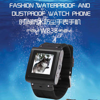 W3 IP67 WaterproofGSM Quad band Rvs Horloge mobiele telefoon 1.5 Inch Touchscreen sim-kaart Camera MP3 MP4 JAVA Bluetooth
