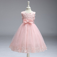 Bowknot For Flower Girls Children Clothing Infantil Princess Summer Evening Party Roupas De Menina Femininas Dress