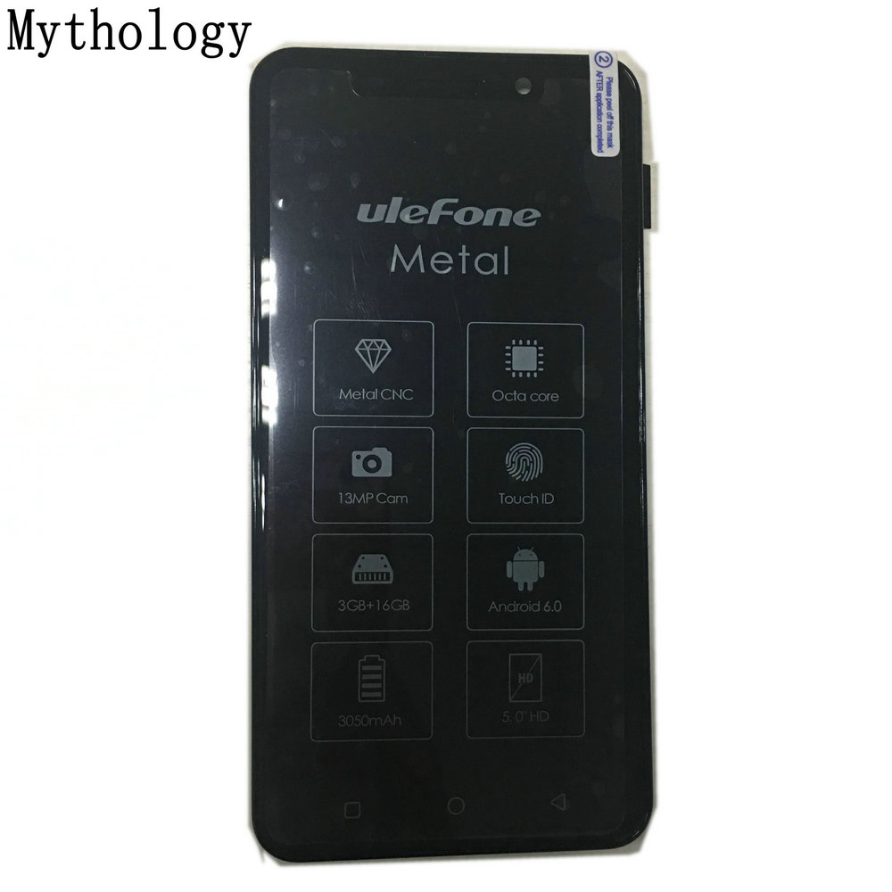 Mythologie Touch Screen Display Für Ulefone Metall 5,0 zoll Handy LCD Touch Panel MTK6753 Octa Core Smartphone Reparatur Werkzeuge