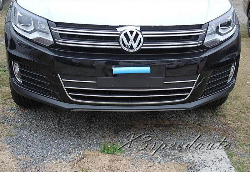 Free Shipping Chromed 4PCS Grill Grille Vent Trim Cover For Volkswagen Tiguan 2012 2013