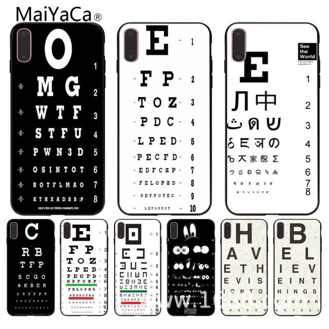 Maiyaca Funny Eye Chart For Iphone 8 Soft Silicone Tpu Case For