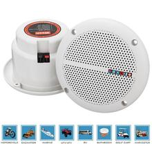 QINGRX New 1 Pair Speaker Loudspeakers Waterproof Marine Boat Ceiling Wall Speakers Kitchen Bathroom Water Resistant