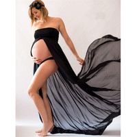 Sexy Chiffon Maternity Dresses Long Maternity Dresses For Photo Shoot Off Shoulder Pregnant Dresses Maternity Clothes