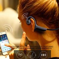 [Original]Wireless Bluetooth 4.2 Stereo Headset Neck Strap Headphone Bone Conduction Outdoor Sports Hands Free Earphone