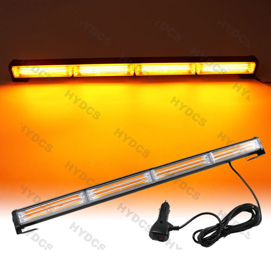CYAN SOIL BAY 72W COB LED Emergency Hazard Warning Flash Strobe Beacon Light Bar -Amber Yellow 4x 4 led car flash truck emergency beacon light bar hazard strobe warning amber white blue red