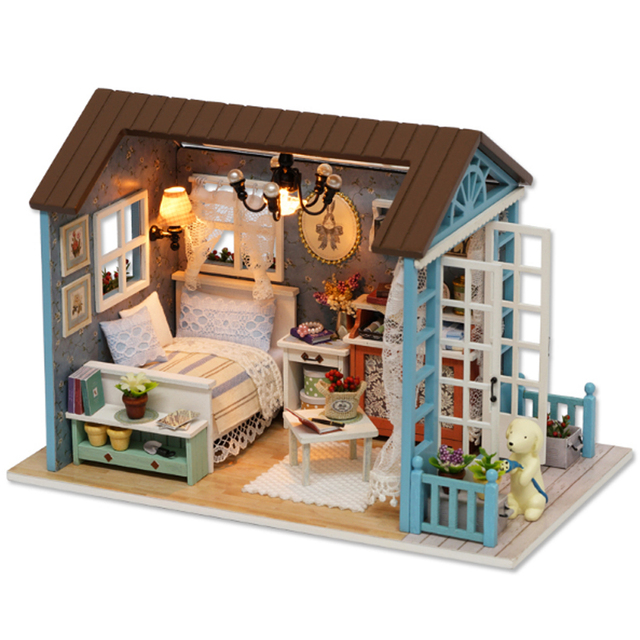 2018 New Gift Creative Miniature Doll House Model Building Kits