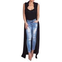 2017 summer women chiffon blouse shirt casual loose long shirts Sleeveless Lace Solid coat turn-down collar big size QM-3009