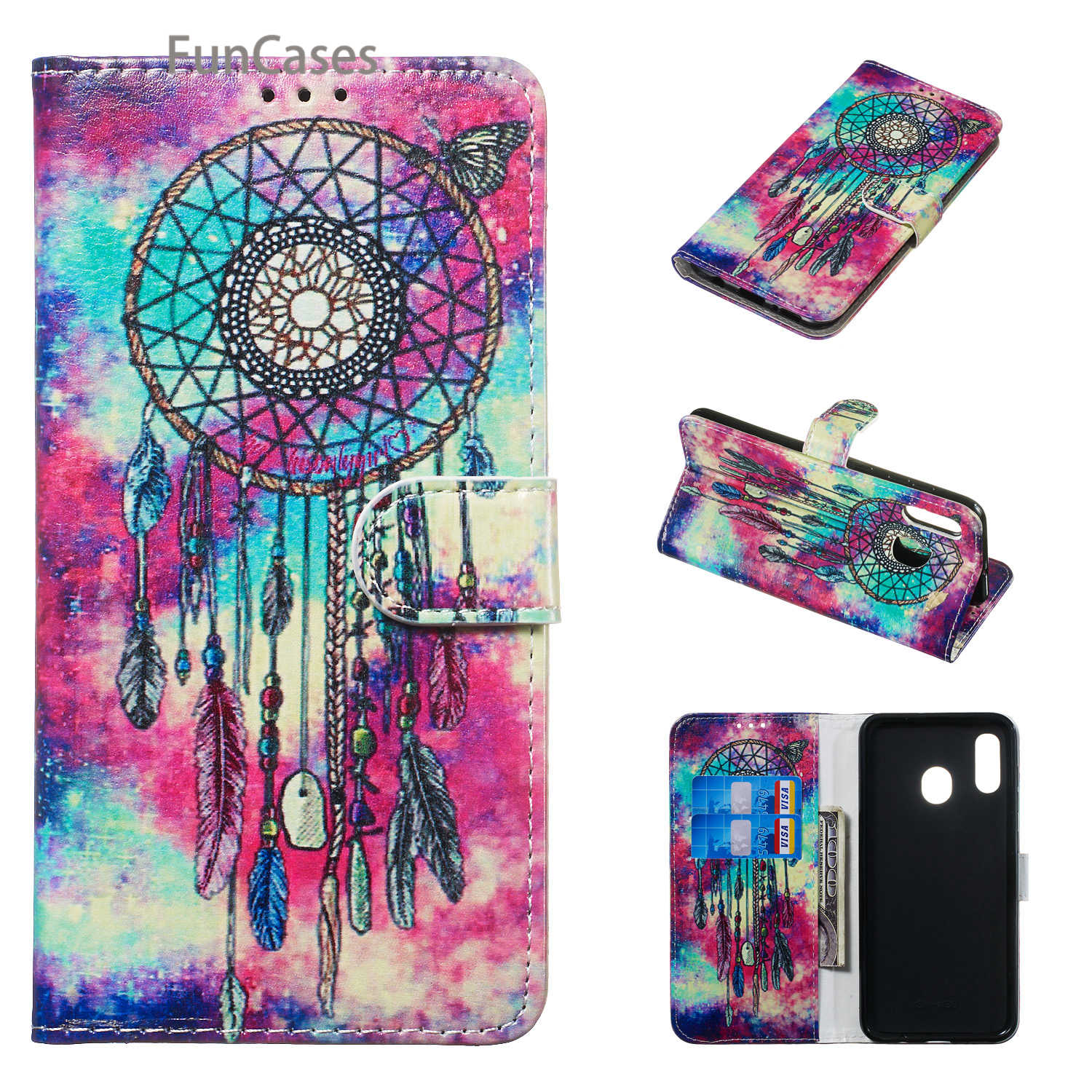 Colorful Transparent Cases For <font><b>hoesje</b></font> <font><b>Samsung</b></font> A10 Aksesuar PU Leather Book Case sFor <font><b>Samsung</b></font> para A20 A30 A40 A50 A60 <font><b>A70</b></font> Coque image