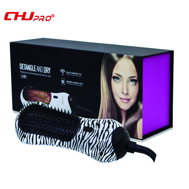 CHJ Hairdryers Infrared Hair Dryer Brush Professional Ionic Hair Blower Multi Color Travel Household Hair Style Tool фен elchim 3900 healthy ionic red 03073 07