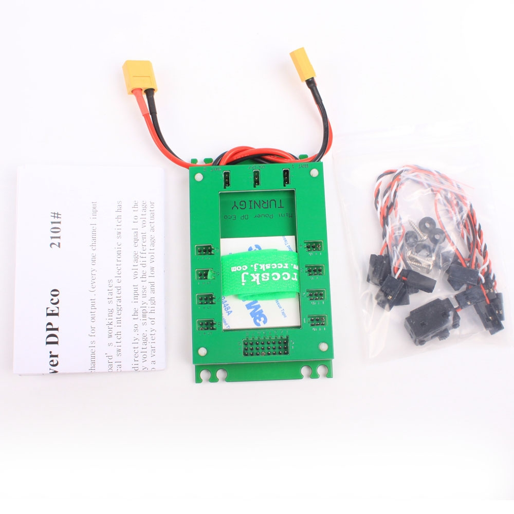 Mini Servo Section Board with Dual Power Input Wire and Electronic Switch Green Color for RC